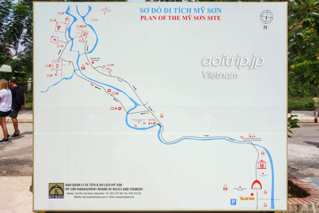 ミーソン聖域のマップ