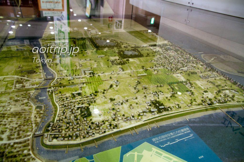 大田区役所の羽田空港模型
