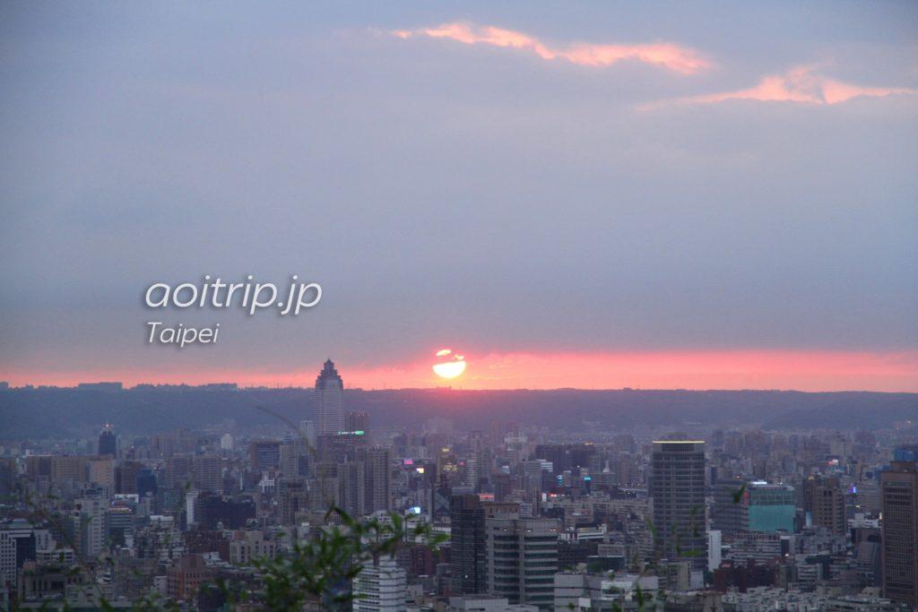 台北象山からの夕日