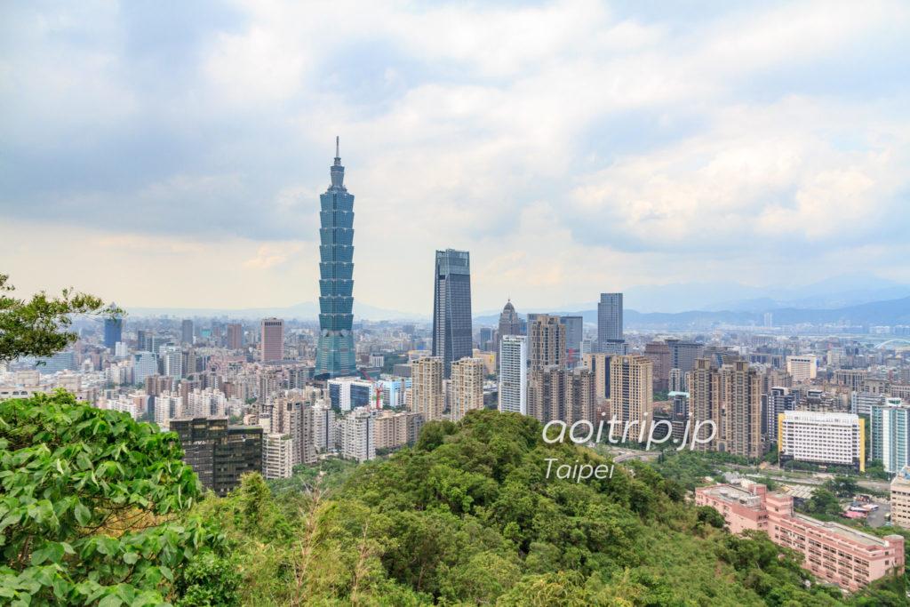 象山からの台北101の眺望