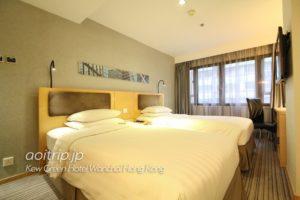 キューグリーンホテル湾仔香港 ツインルーム