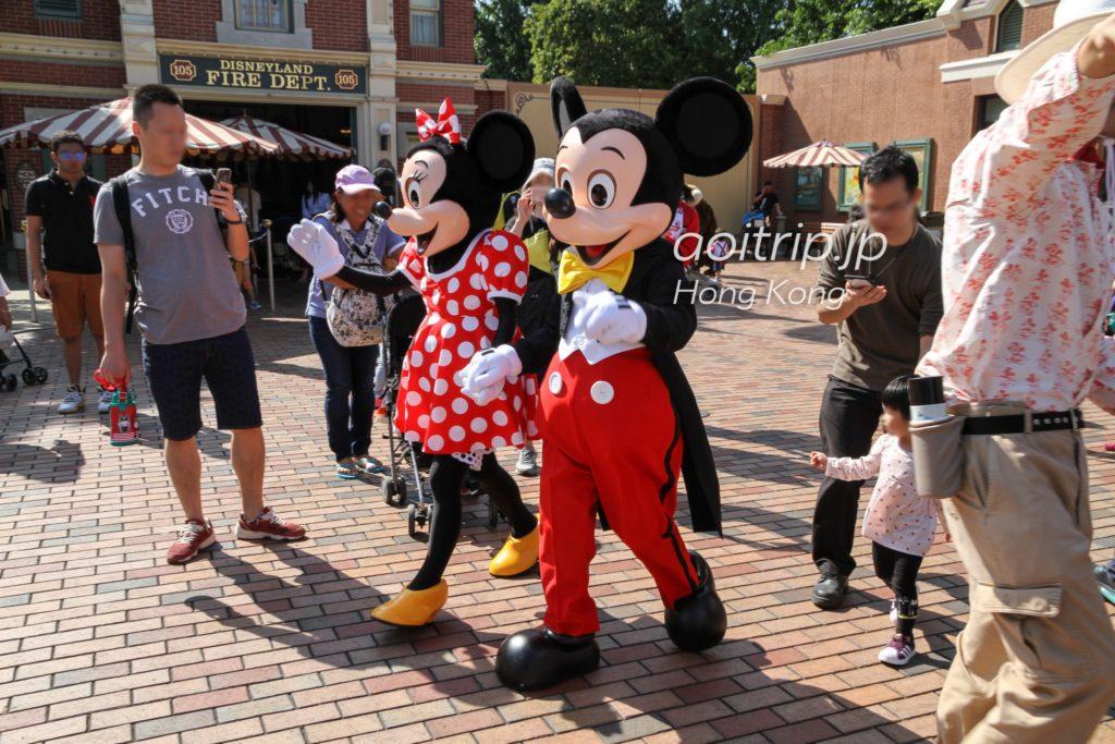 香港ディズニーランド ミッキーとミニー