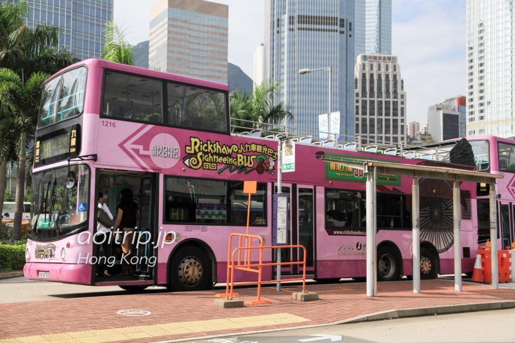 香港の人力車観光バス