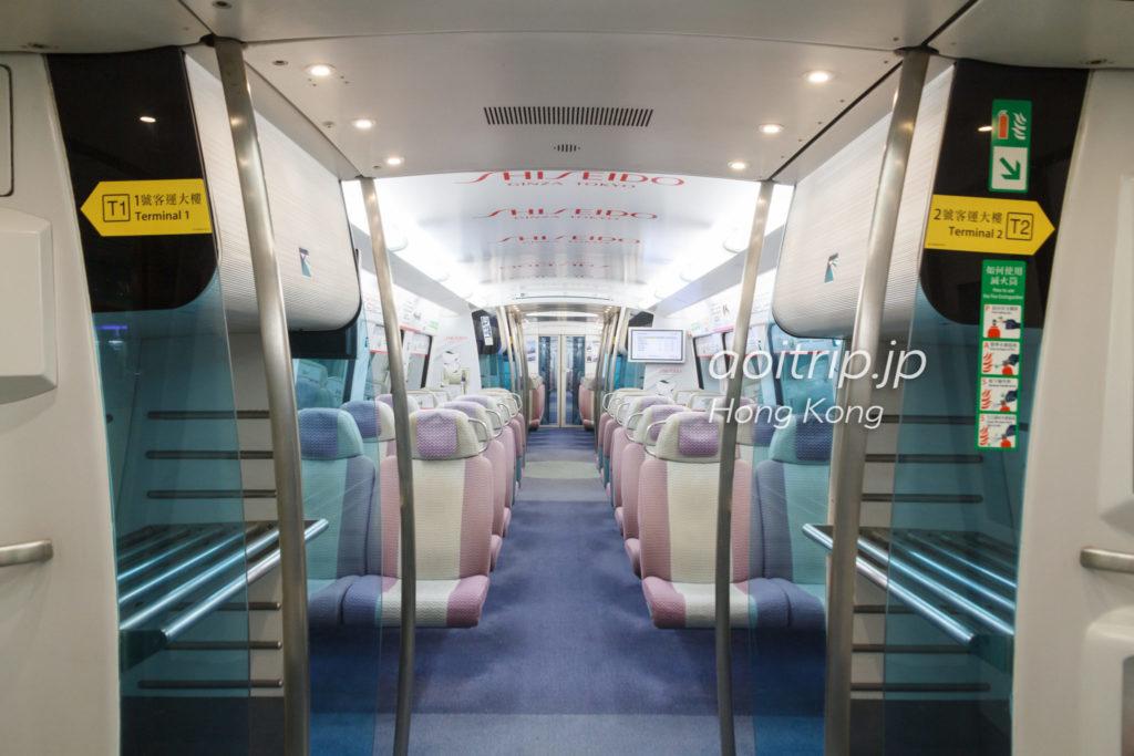 香港エアポートエクスプレスの車内