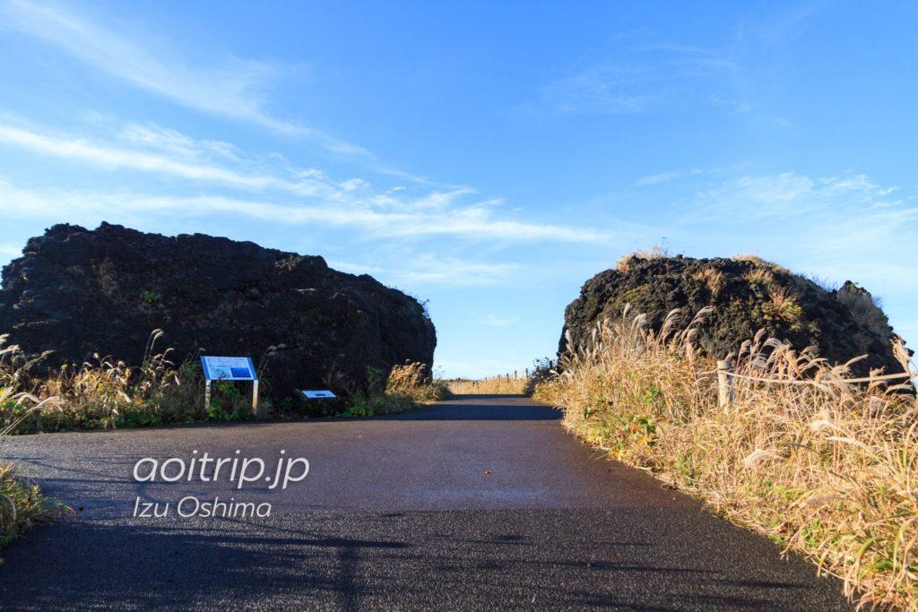 三原山の溶岩アグルチネート