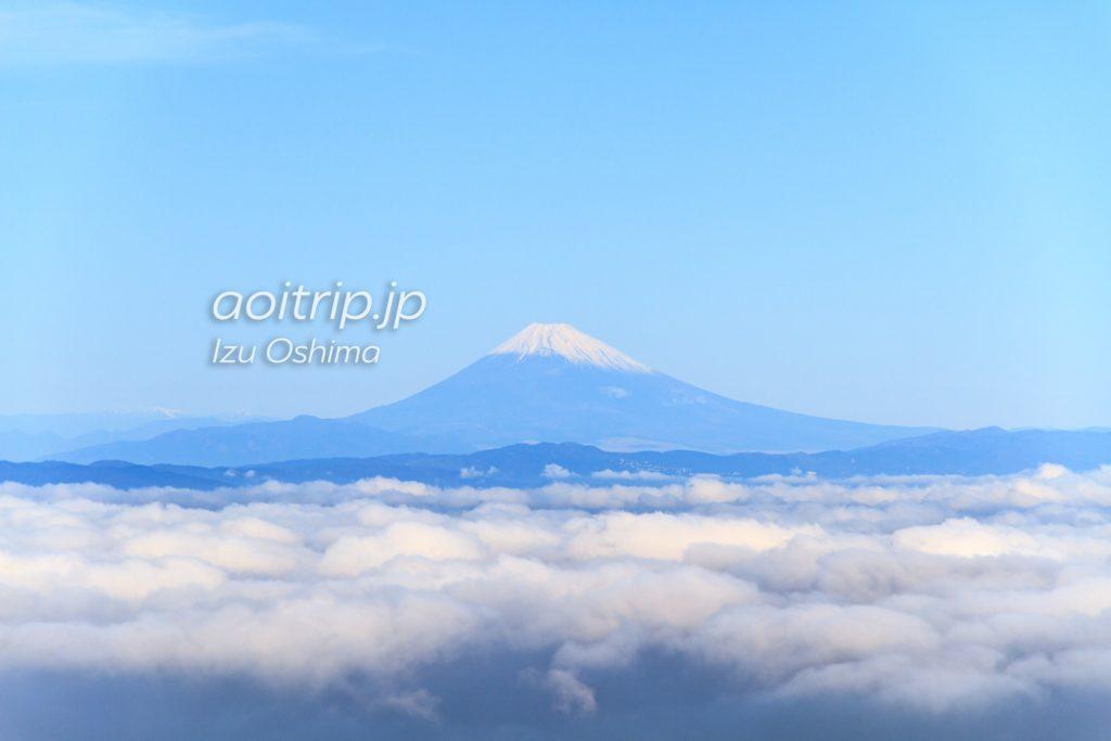 伊豆大島から見た富士山