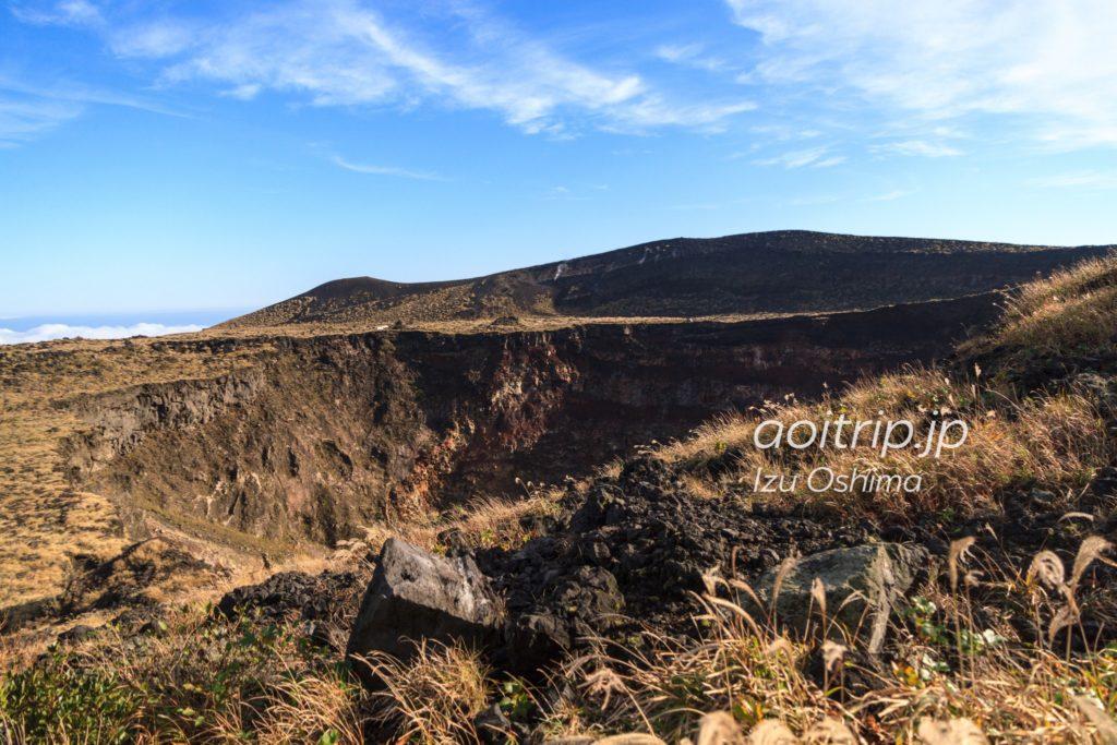 火口展望台からの三原山火口