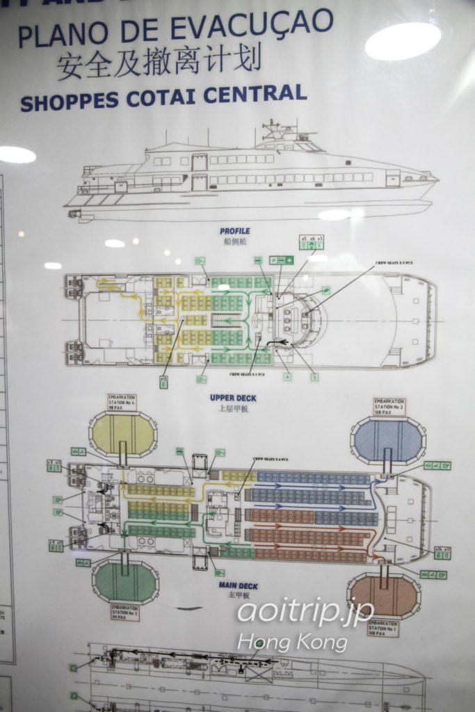 コタイジェットの船内マップ