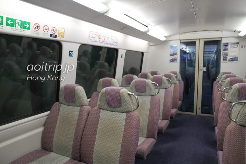 香港エアポートエクスプレスの座席