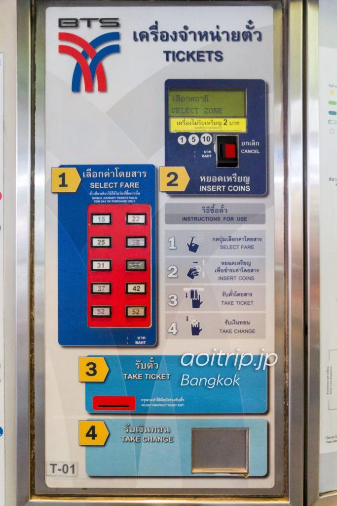 バンコクBTS 小銭の券売機