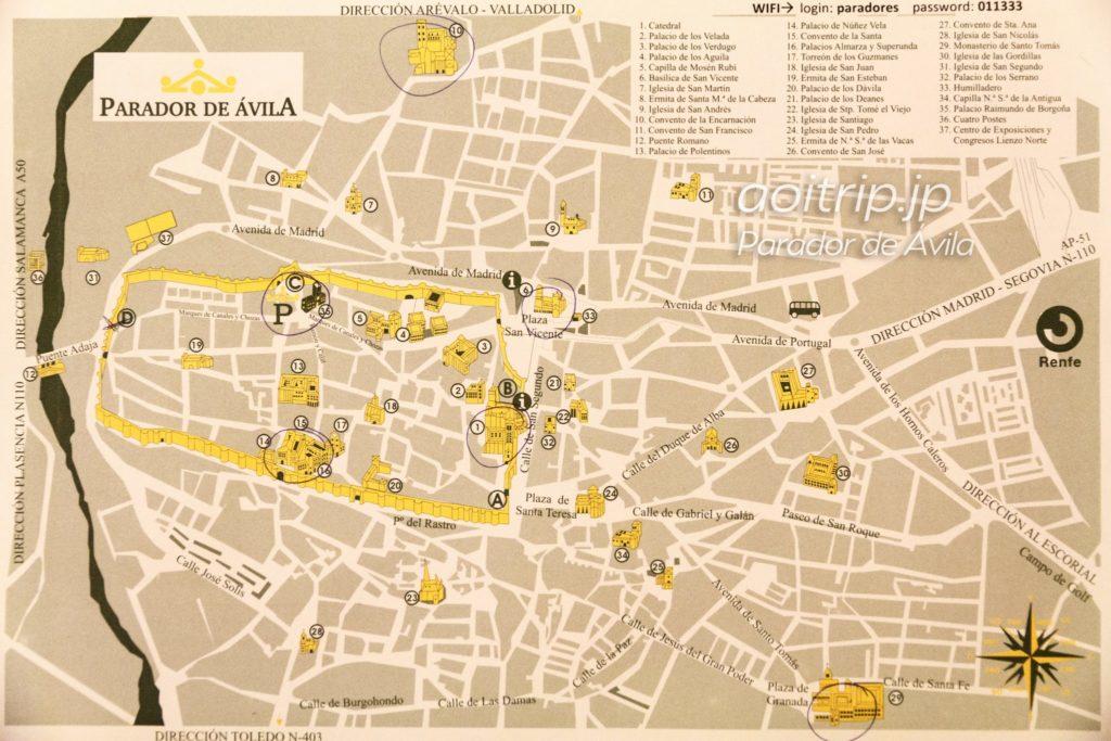パラドールデアビラ マップ