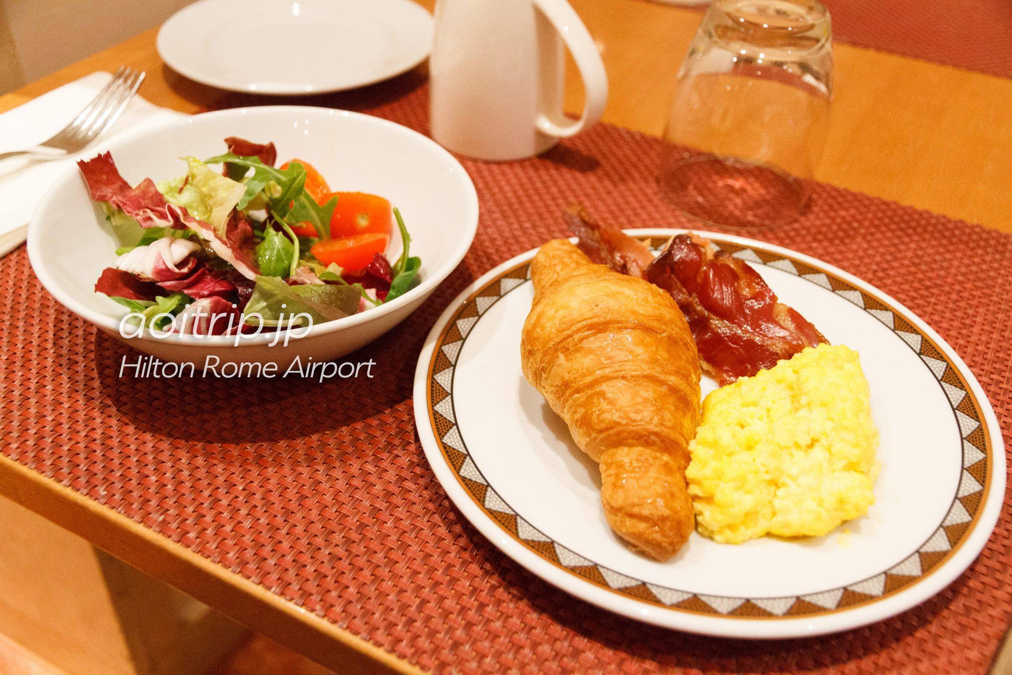 ヒルトンローマエアポートの朝食