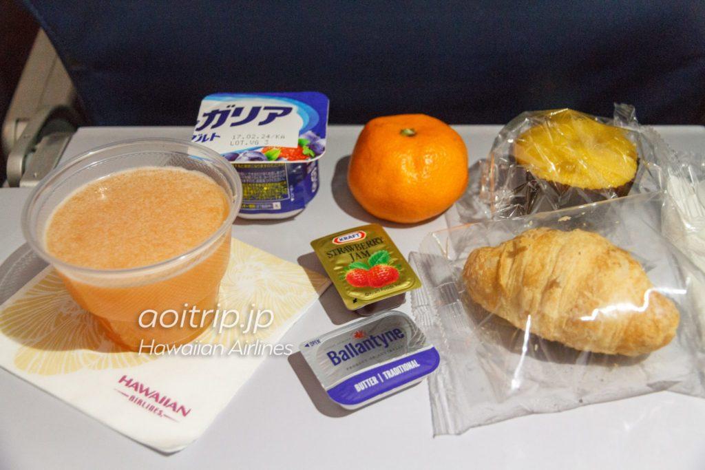 ハワイアン航空 機内食(朝食)