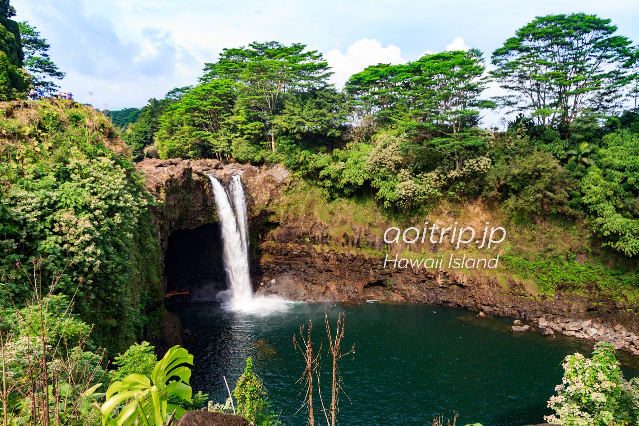ハワイ島 レインボー滝