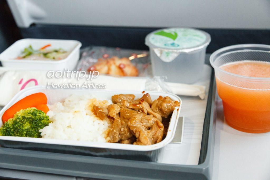 ハワイアン航空 HA851便 機内食