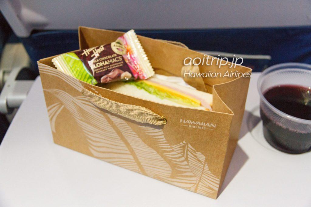 ハワイアン航空 HA851便 機内食(朝食)