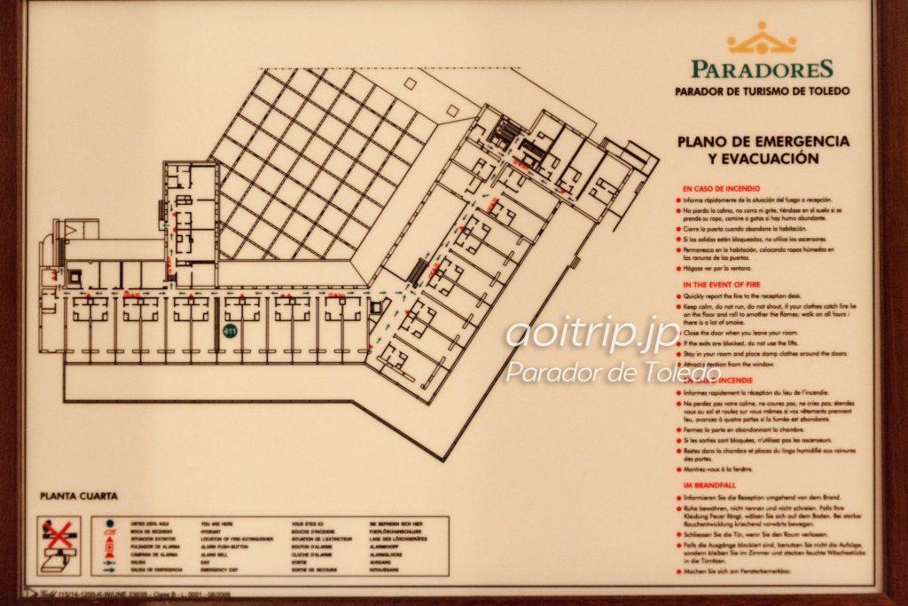パラドールデトレド ホテル内マップ