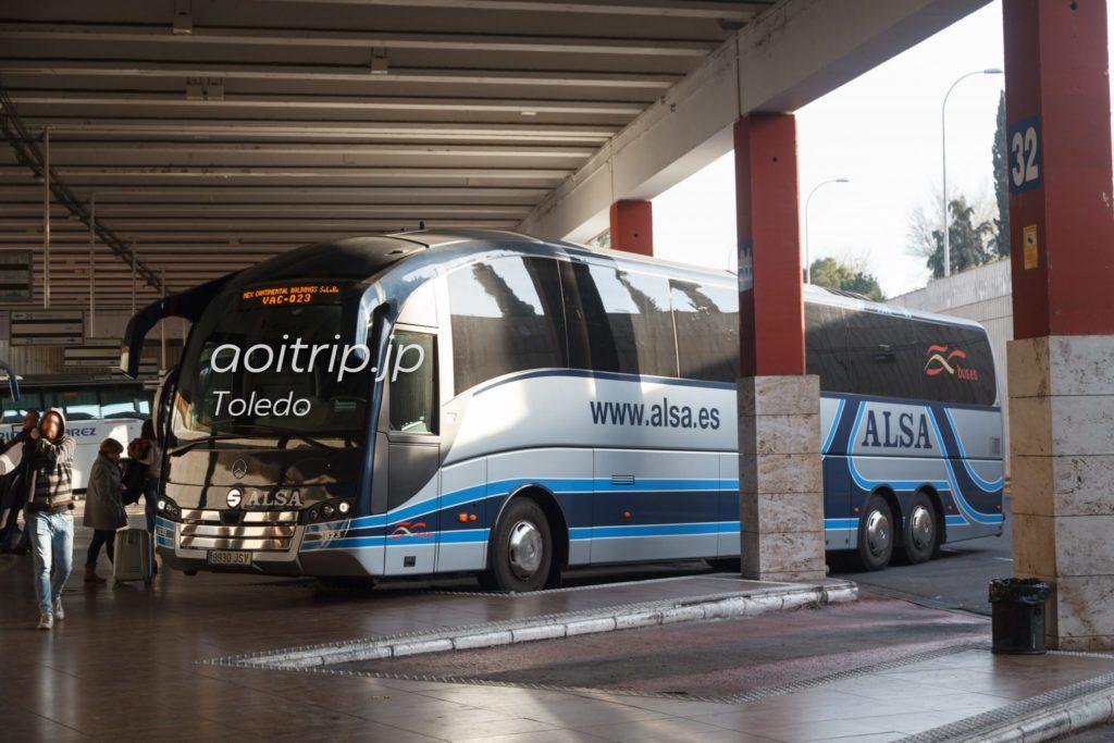 トレドからマドリッド行きのバス