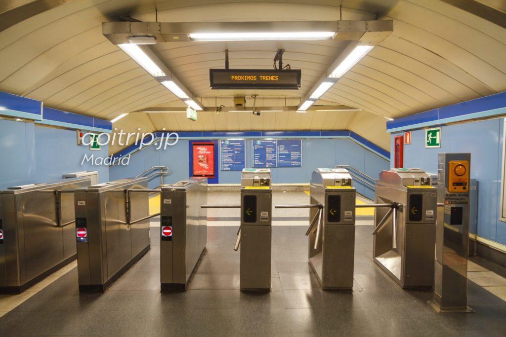 マドリッド地下鉄の改札