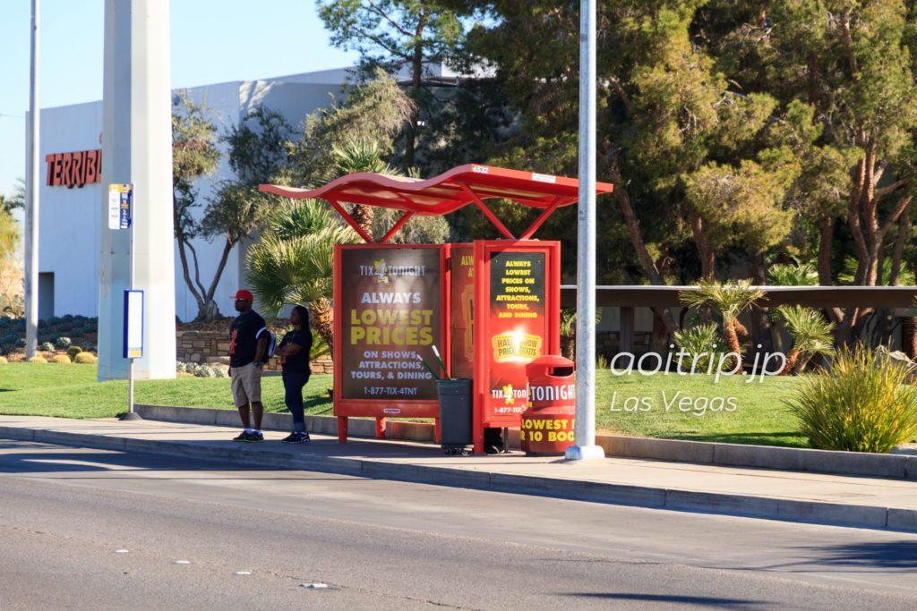 ラスベガス SDX・デュースのバス停