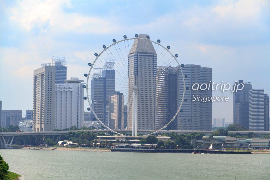 マリーナバラージから見たシンガポールフライヤー