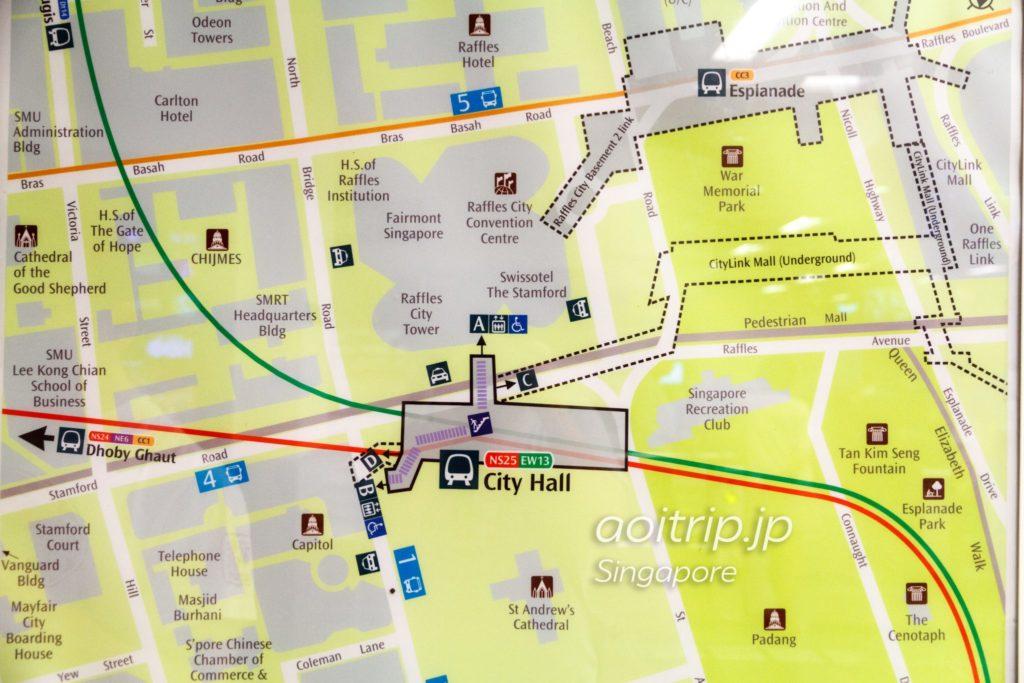 City Hall駅の周辺地図