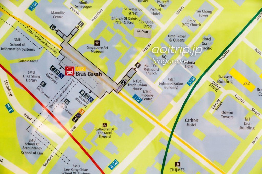 Bras Basah駅の周辺地図