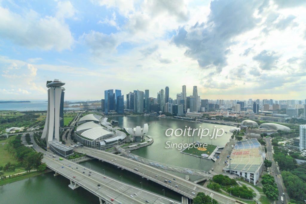 シンガポールフライヤーから見たマリーナベイ
