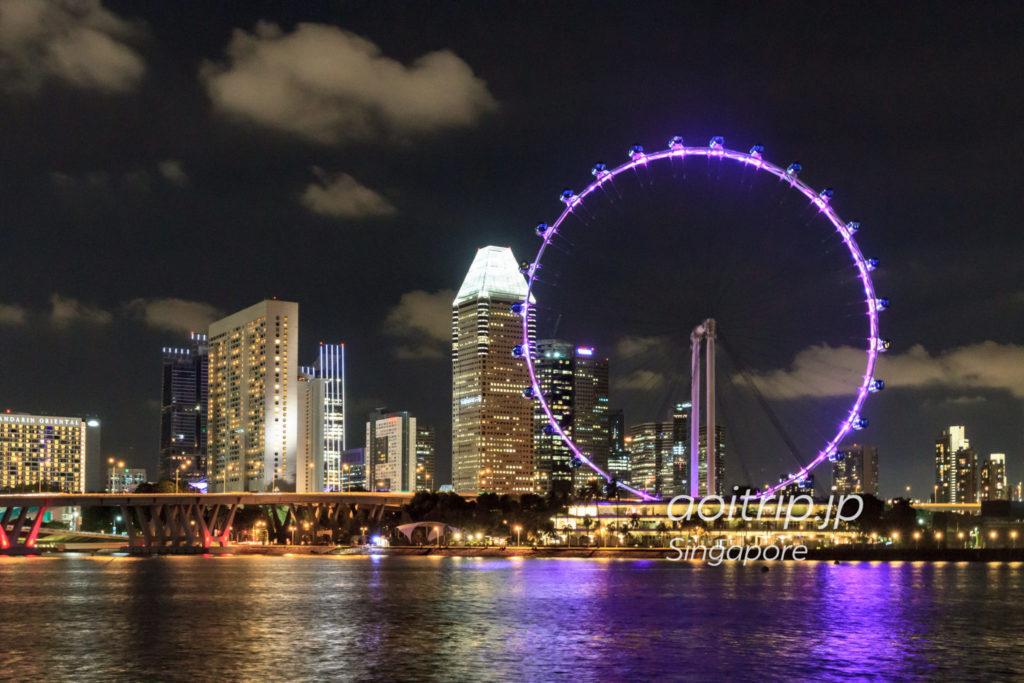 シンガポールフライヤー 夜景