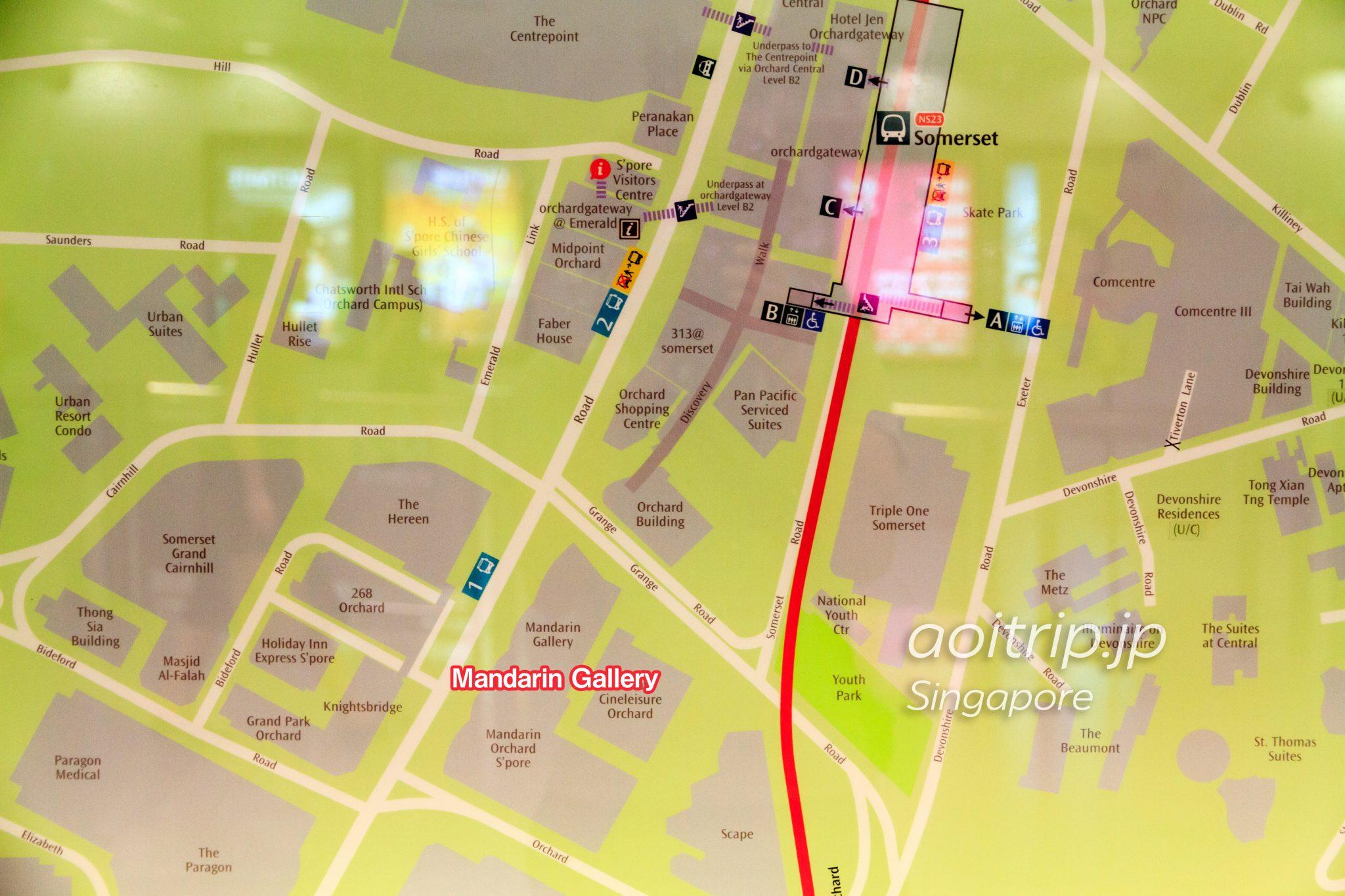 シンガポールのチャターボックス 行き方マップ