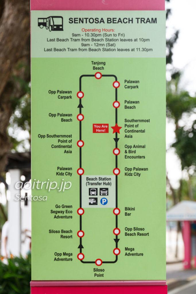 セントーサビーチトラムの路線図