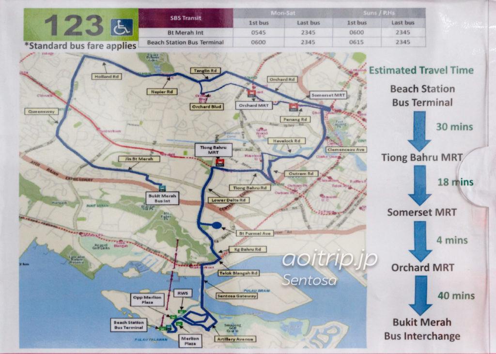 シンガポールの路線バス123番線