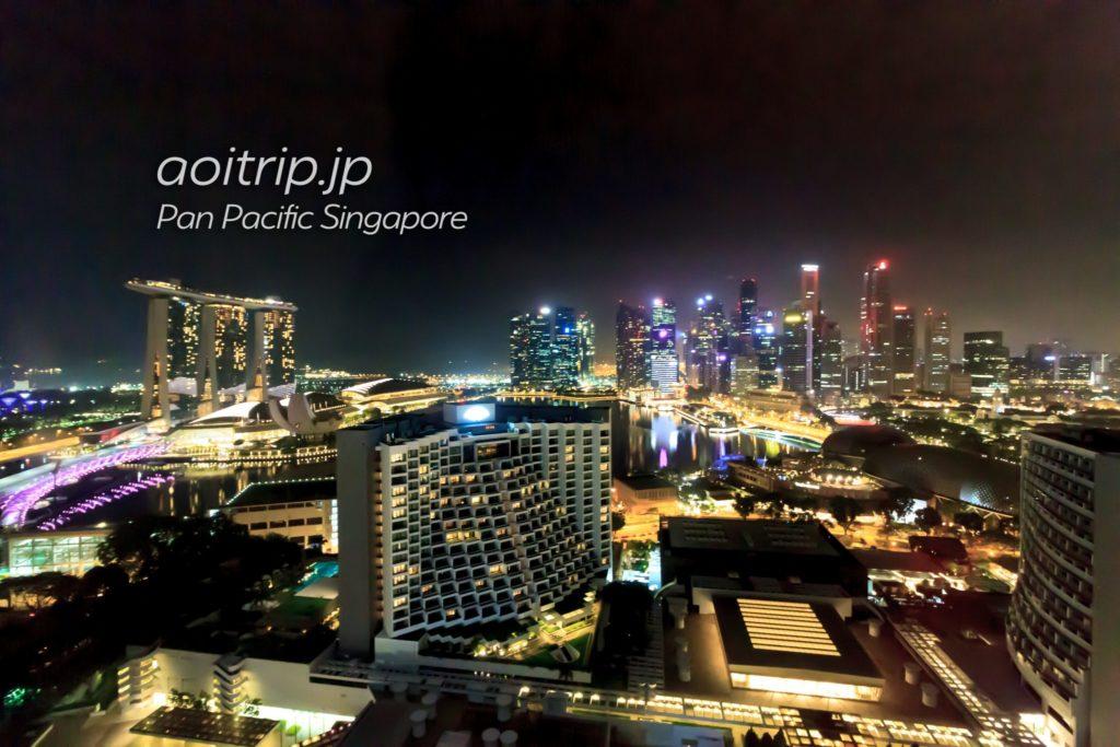 パンパシフィックシンガポール マリーナベイビュー 夜景