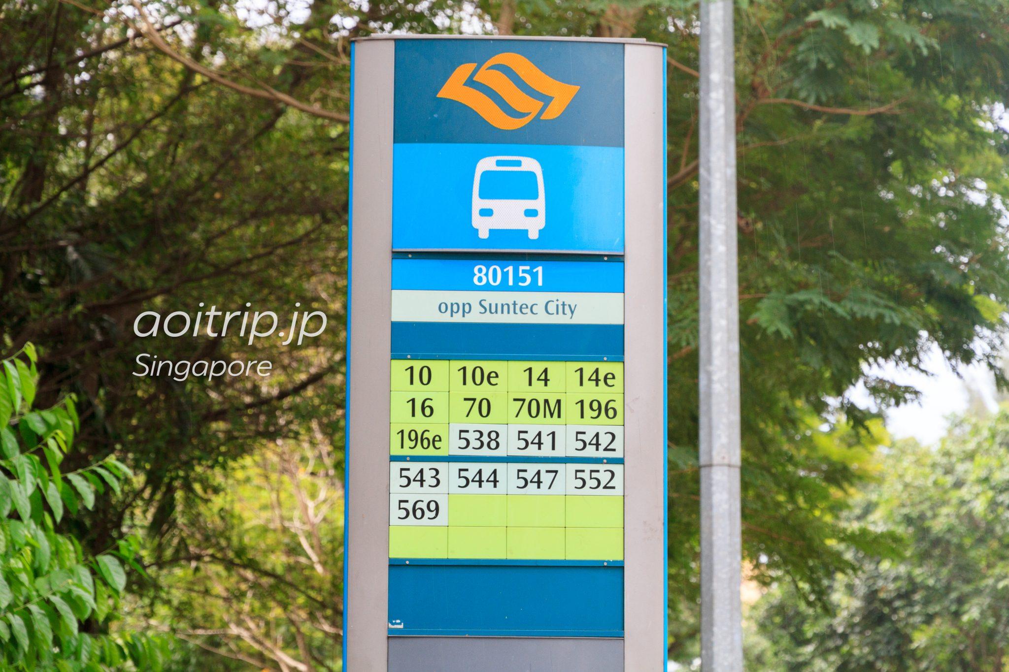 シンガポールのバス停
