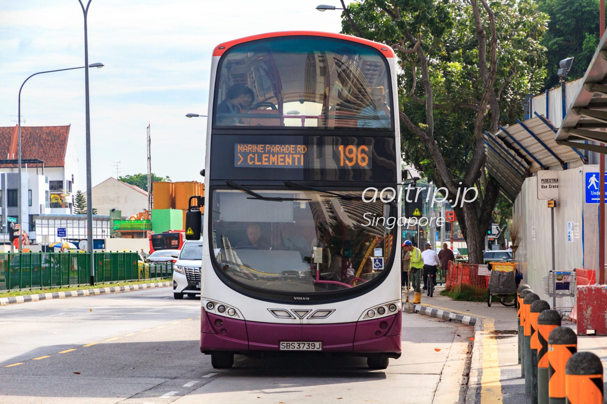 シンガポール 路線バス ダブルデッカー