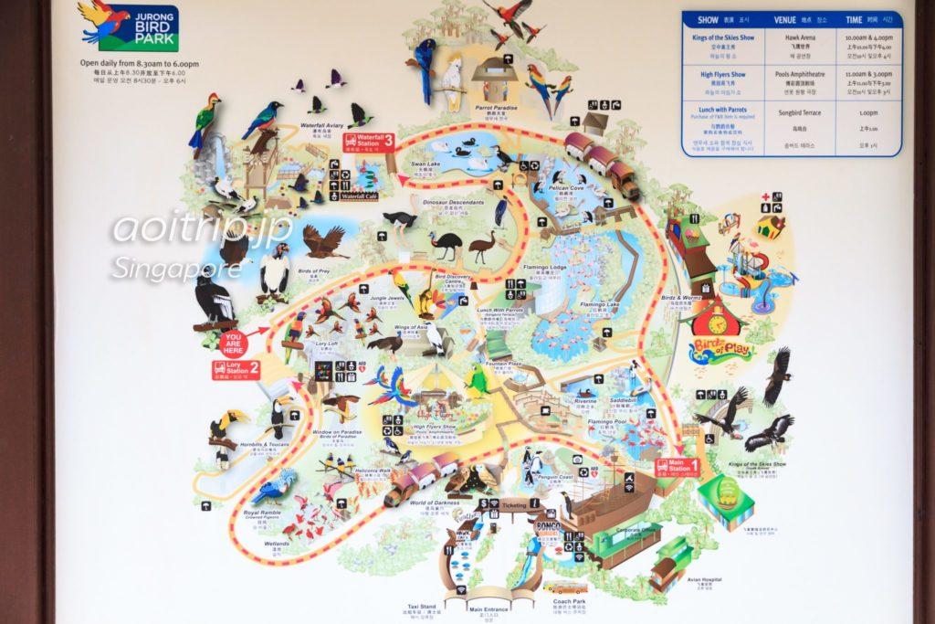 ジュロンバードパークの園内マップ