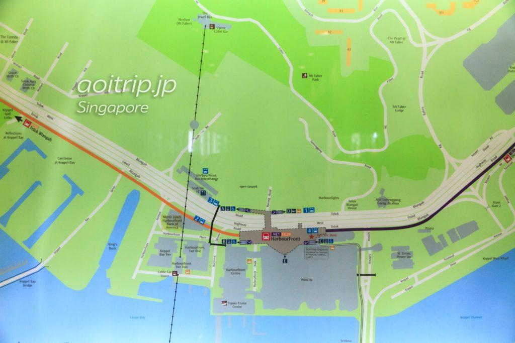 ハーバーフロント駅からマウントフェーバー 地図