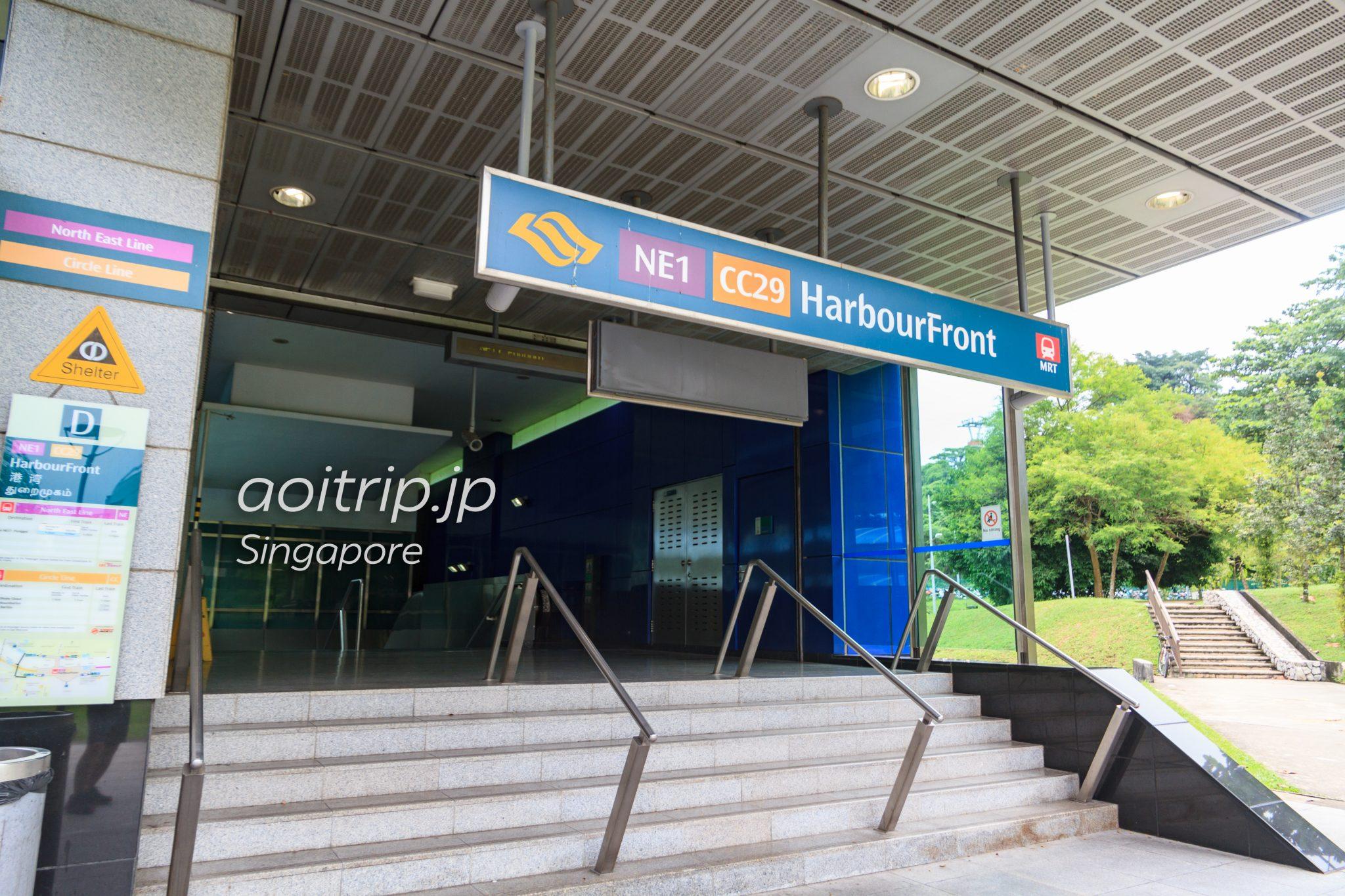 シンガポール ハーバーフロント駅 D出口