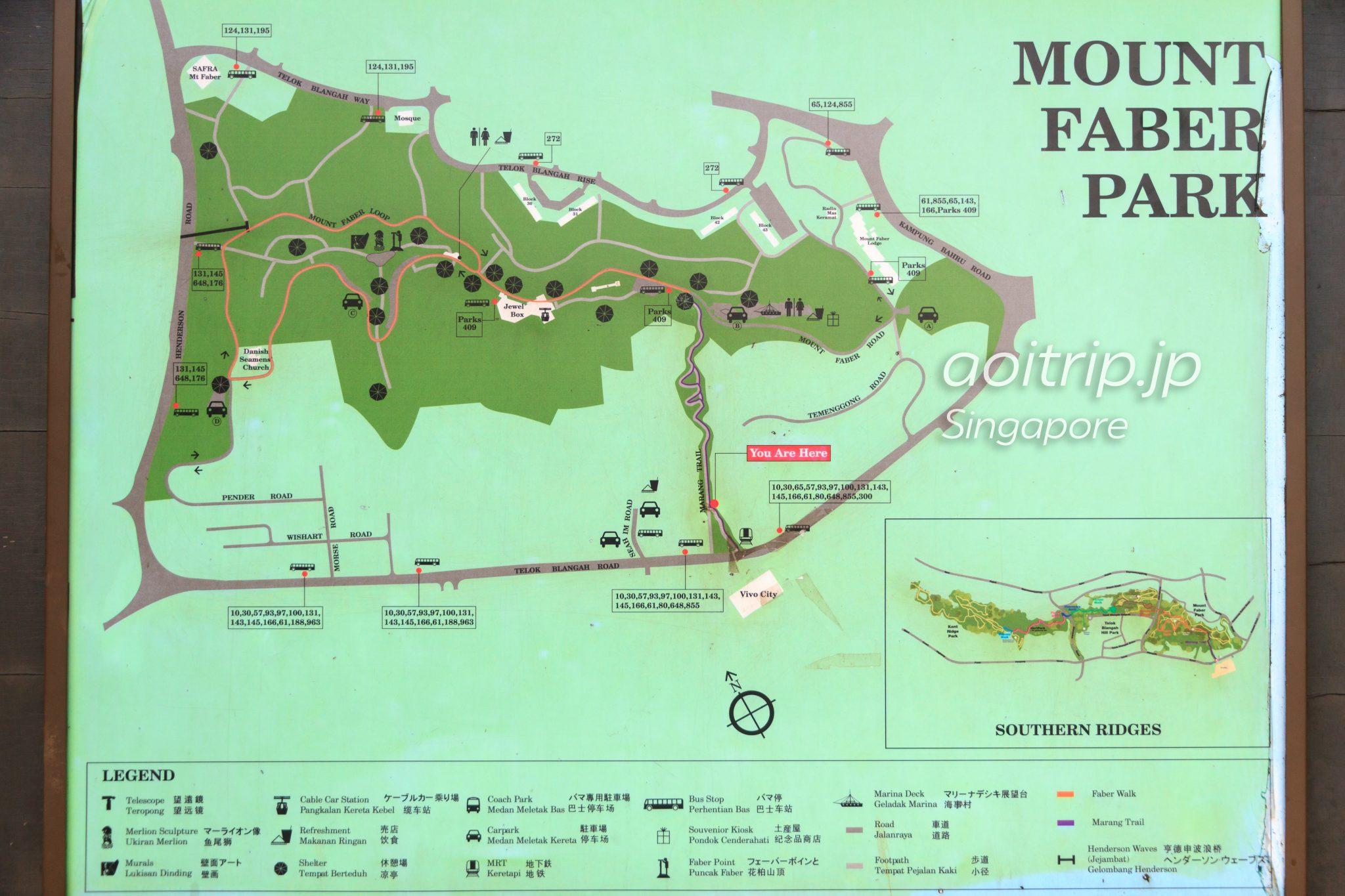 マウントフェーバーパークの地図