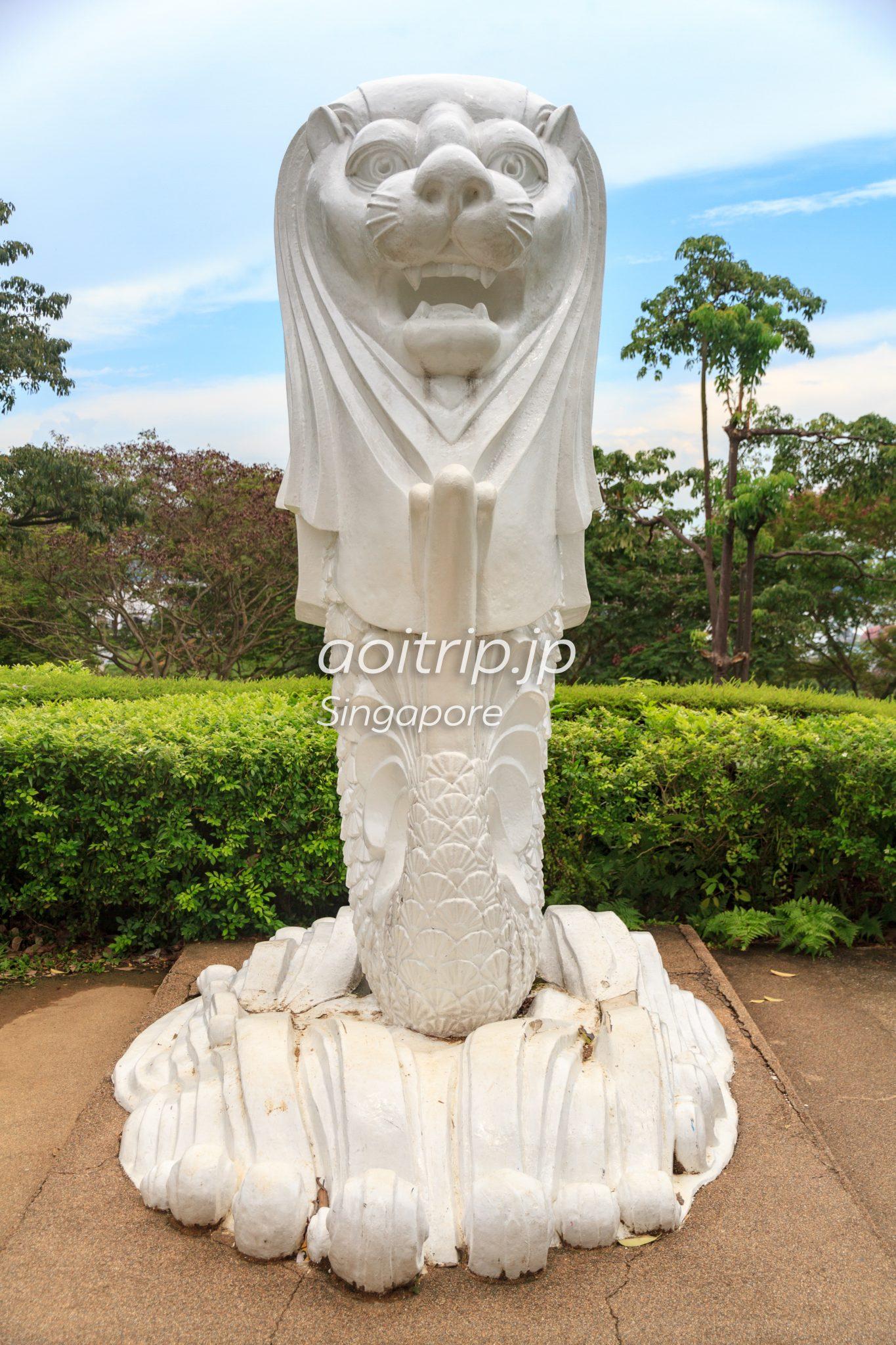マウントフェーバーパークのマーライオン像