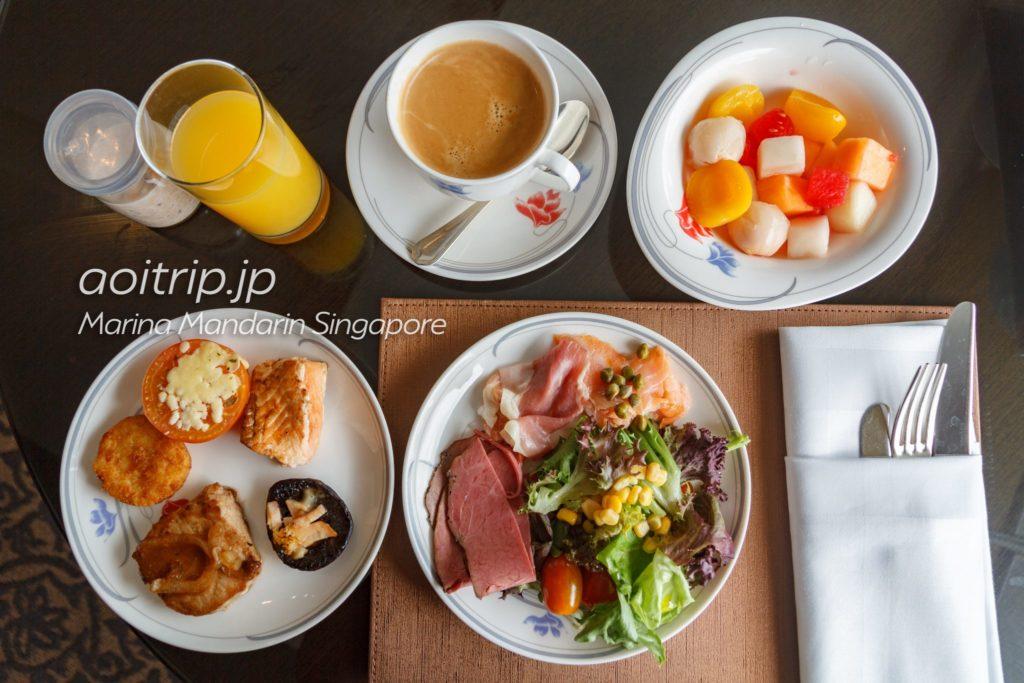 マリーナマンダリンシンガポール クラブラウンジ 朝食