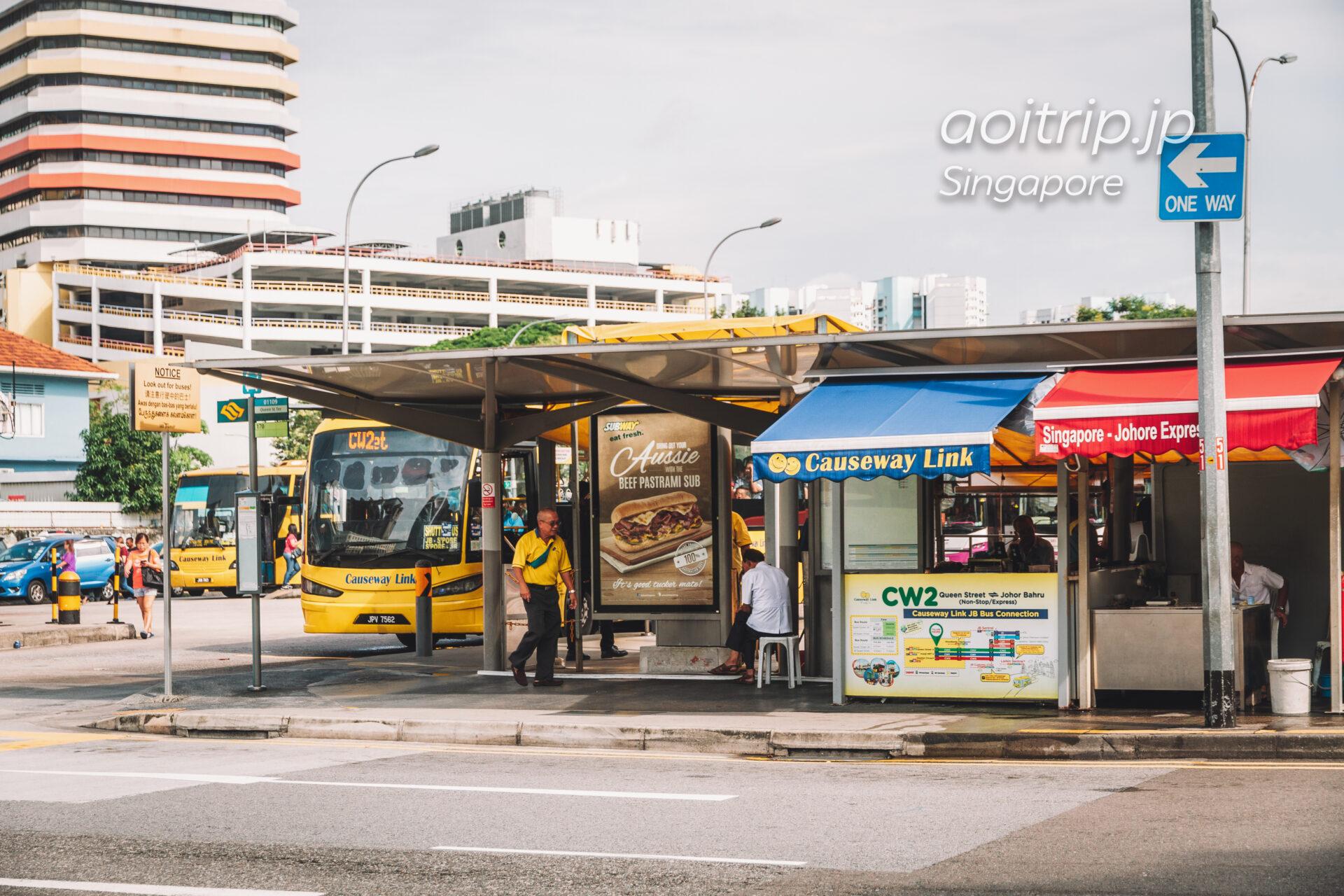 Queen Street ジョホールバル行きバス乗り場