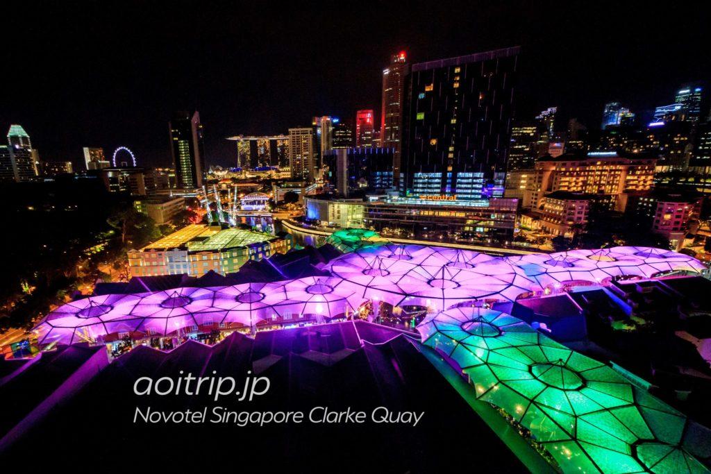 ノボテルシンガポールクラークキー 夜景