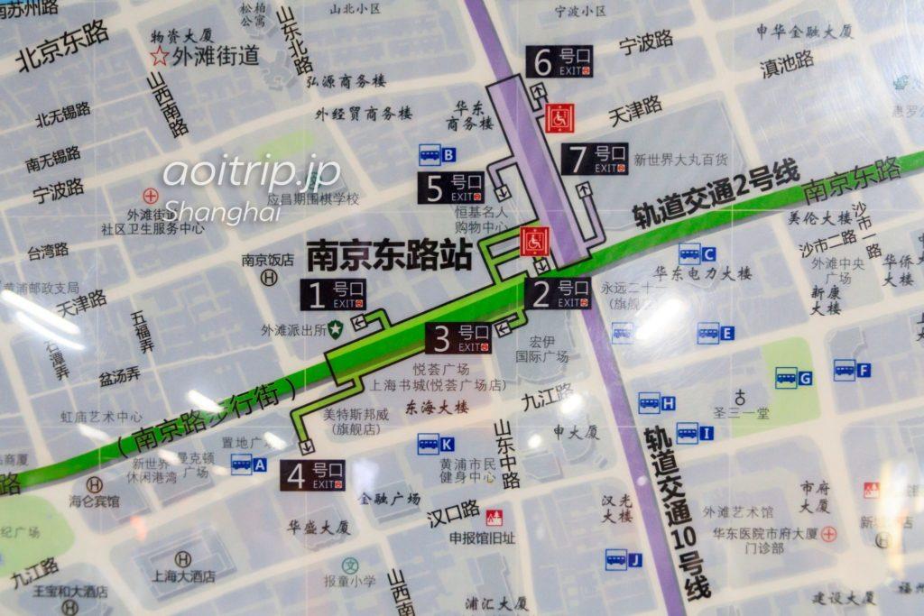 南京東路駅の周辺マップ