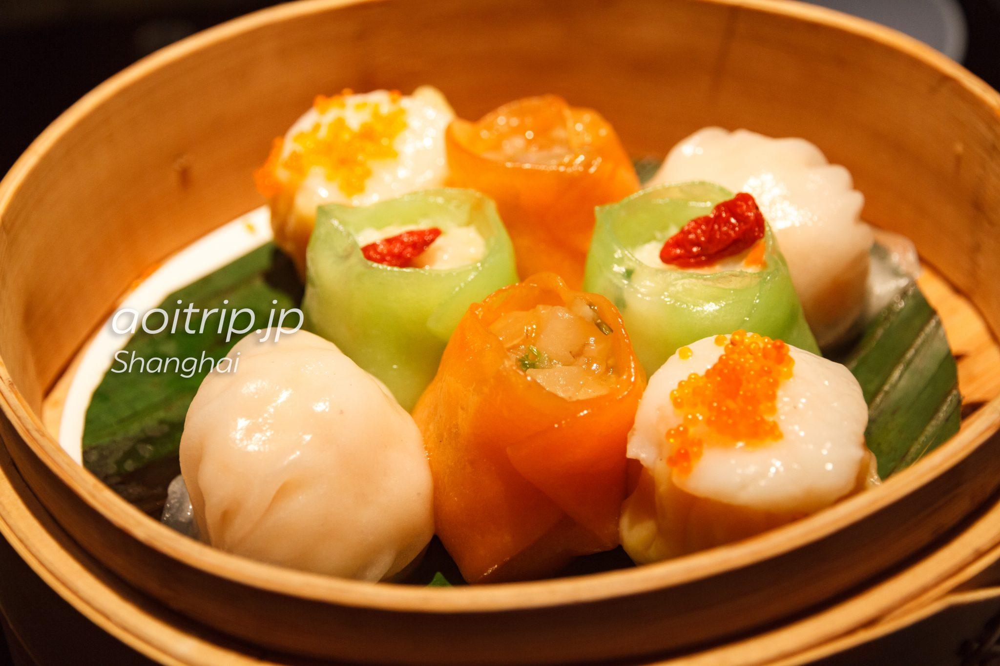Hakkasan上海 ホタテ、エビなどの点心四種 Luxurious dim sum platter、四式点心拼