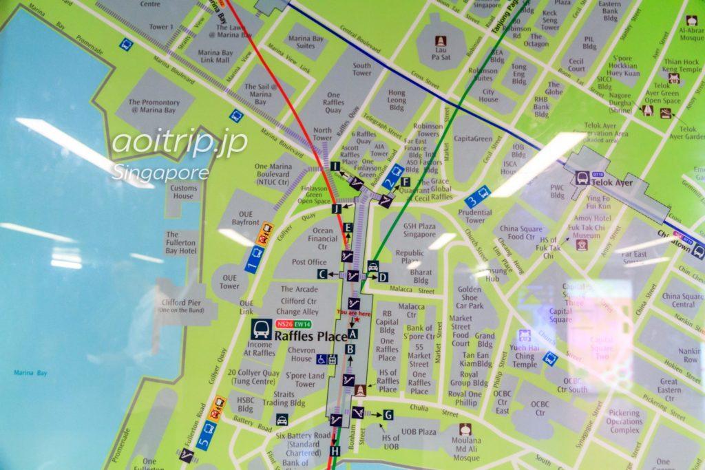 ラッフルズプレイス駅周辺マップ