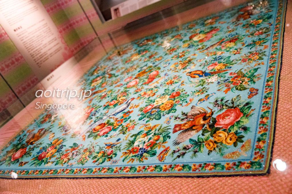 プラナカン博物館 プラナカンビーズのテーブルクロス