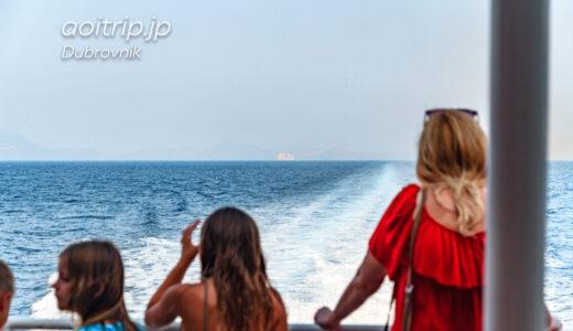 ドゥブロヴニクからフヴァル島へ高速フェリーで移動