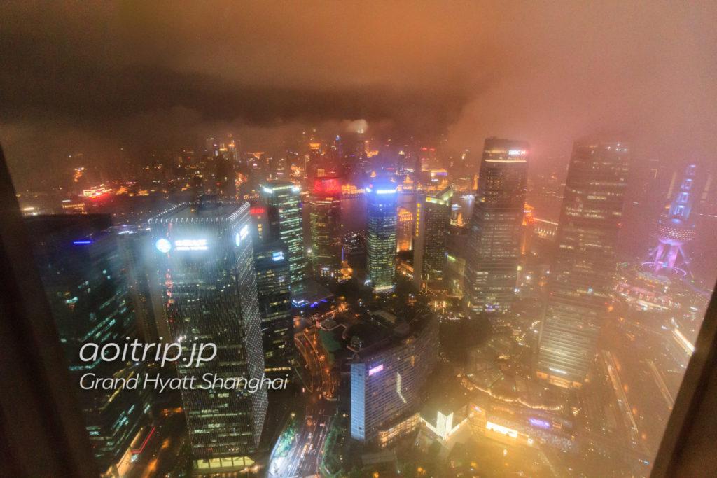 グランドハイアット上海からの眺望(夜景)