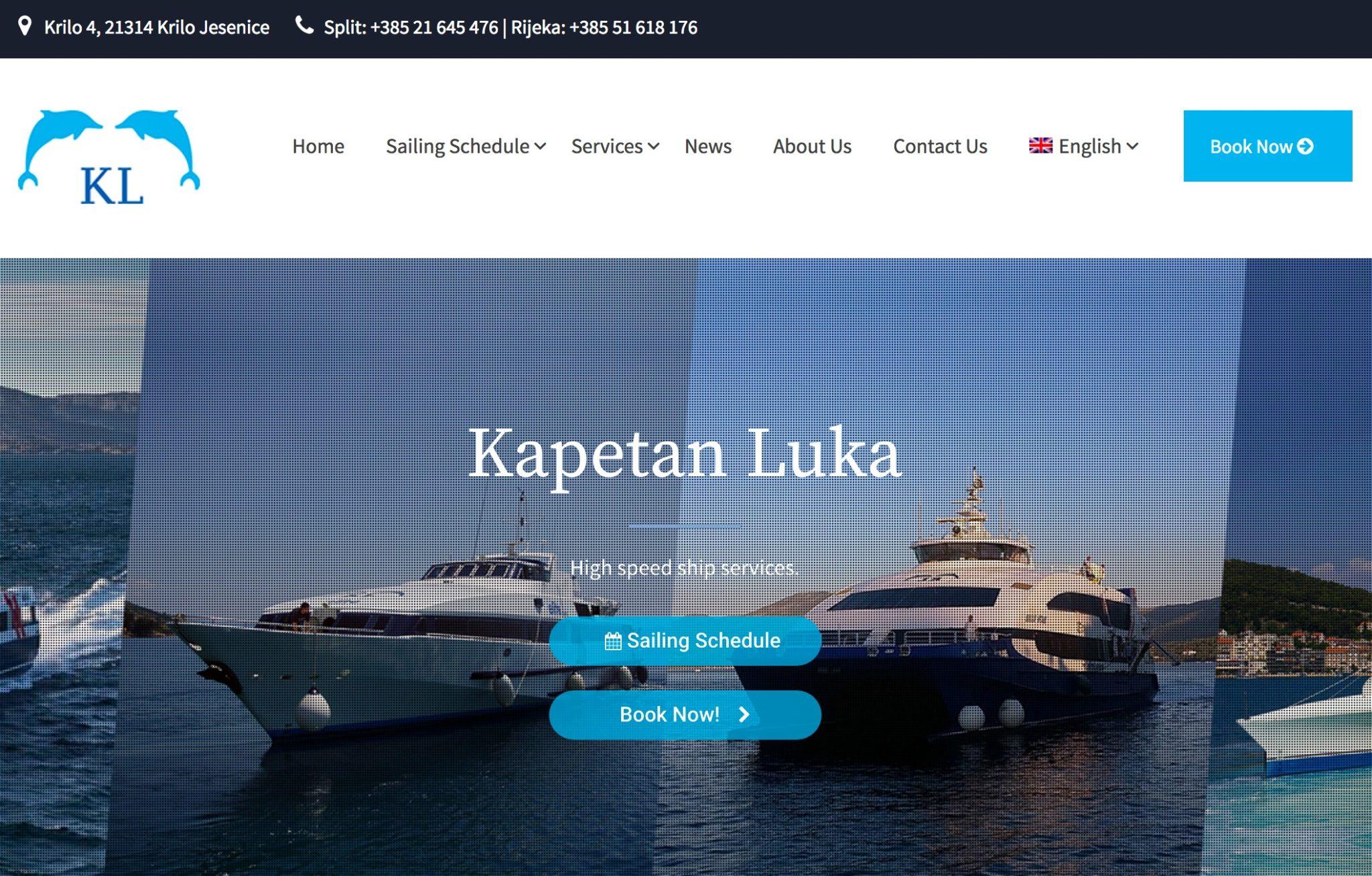 クロアチア ドゥブロヴニクーフヴァル島フェリーの予約サイト